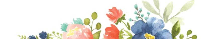 30th floral header no words