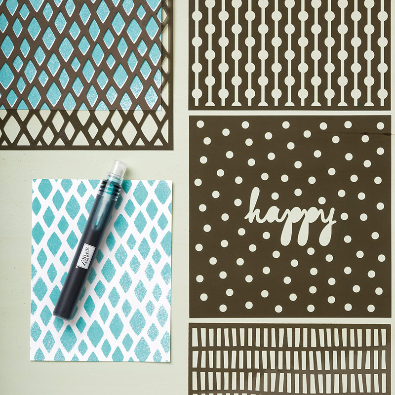 Happy Patterns Stencil $6