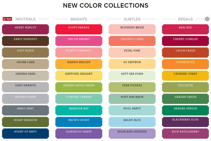 New color chart 2018