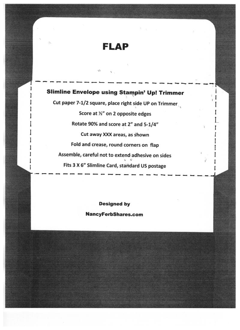 Slimline Envelope using SU Trimmer