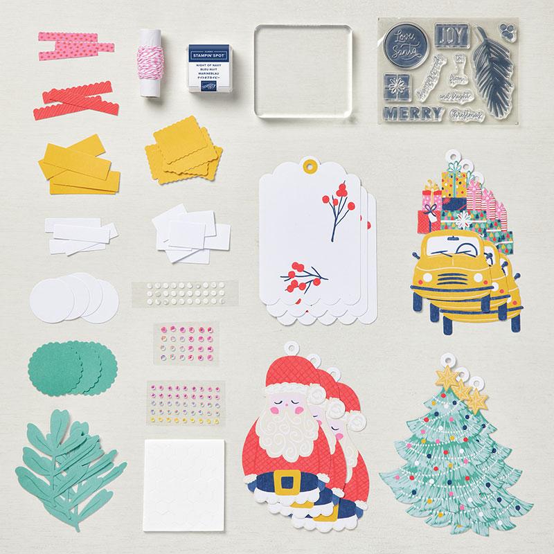 Santa tag kit parts